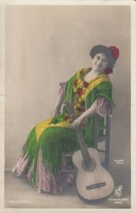 RP: Flamenco Dancer with guitar, 1900-10s