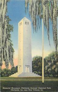 Memorial Monument ,Chalmetie National Historical Park, Chalmetie, LA, Linen