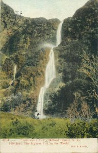 New Zealand Sutherland Fall Milford Sound the highest waterfall in the World