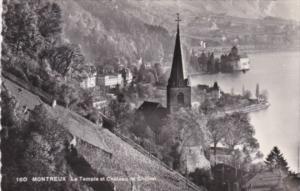 Switzerland Montreux Le Temple et Chateau de Chillon 1952 Photo