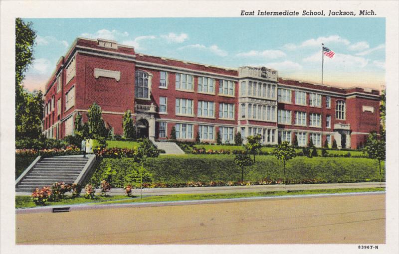 JACKSON, Michigan, 1930-1940's; East Intermediate School