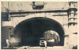 Cuba Archway in Acosta Street Havana Cuba REAL PHOTO 02.18