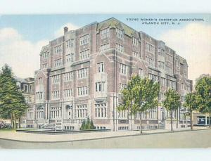 Unused Linen YWCA BUILDING Atlantic City New Jersey NJ G0951