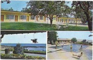 Twin Light Manor Motor Inn, On the Ocean, Gloucester, Massachusetts, MA Chrome