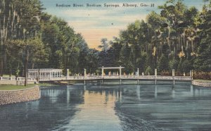 ALBANY, Georgia, PU-1950; Radium River, Radium Springs