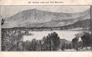 Anchor Lake & Tent Mountain Montana~Panorama~1909 B&W Postcard