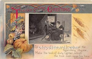 Thanksgiving Old Vintage Antique Postcard Post Card 1909
