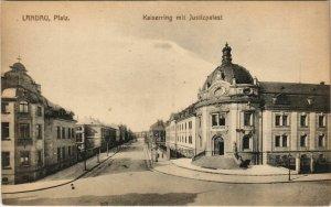 CPA AK Landau Kaiserring mit Justizpalast GERMANY (1125165)