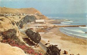 Peru Old Vintage Antique Post Card Chorrillos Beach Lima Unused