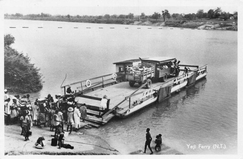 Ghana Gold Coast Yeji Ferry RP Postcard