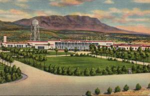 New Mexico Hot Springs Carrie Tingley Hospital and Caballo Mountains Curteich