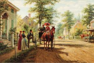 One Sunday afternoon by Edward Lamson Henry Carriage Art Russia Modern Postcard