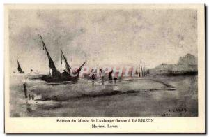 Barbizon - Museum of & # 39Auberge Ganne - Marine Lavau - Old Postcard