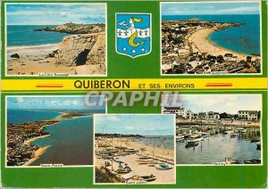 Modern Postcard Quiberon (Morbihan) Brittany Tourist The wild coast Quiberon ...