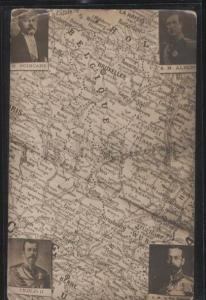 099734 RUSSIAN CZAR NICHOLAS II on MAP George V & Albert