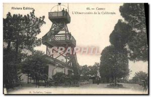 Old Postcard Cannes L & # 39Observatoire California