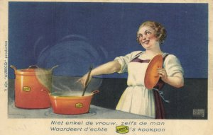 PC CPA ASTRA POTS AND PANS VINTAGE ADVERTISING POSTCARD (b2146)