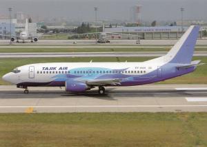 TAJIK AIR, Boeing 737-3L9, unused Postcard