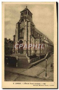 Old Postcard Lisieux L Eglise Saint Jacques