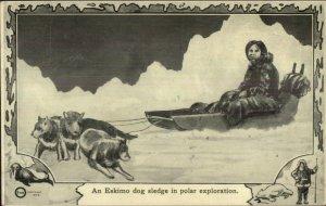 Native Eskimo Sled Dogs Polar Exploration Series #31 c1910 Postcard