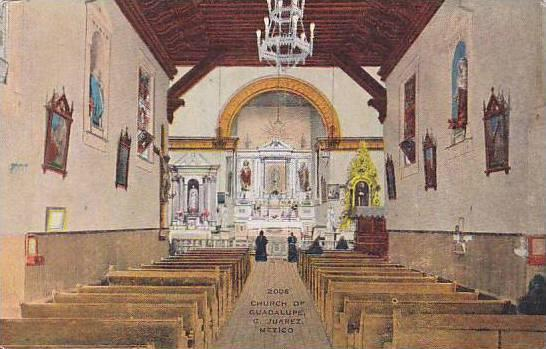 Interior- Church Of Guadalupe, Ciudad Juarez, Mexico, 1930-1940s