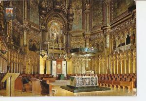Postal 025642 : Interior de la Basilica. Montserrat