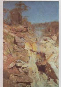 Piero Francesca Altarpiece Of The Baptism Of Christ Gallery Painting Postcard