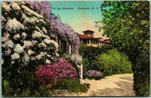 PINEHURST, North Carolina Postcard At The Carolina Hand-Colored 1942 Cancel
