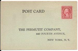 US#583 Dark Carmine - On Advertising Post Card - Uncancelled