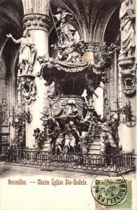 Belgium Brussells Chaire Eglise Ste-Gudule