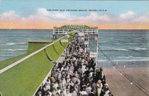 Maine Old Orchard Beach The Pier 1950