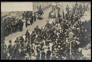 Austria Kaiser Franz Joseph 1908 Huldigungs 50th Anniv Festival RPPC Real  97279