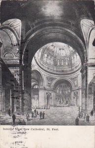 Interior View New Cathedral Saint Paul Portland Maine 1907