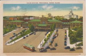 PROVIDENCE RHODE ISLAND - NY, NH & Hartford ; UNION RAILROAD STATION 1910s era