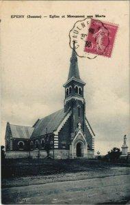 CPA EPEHY Église et Monument aux Morts (17863)