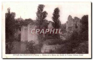 Postcard Old Lussac-les-Chateaux (Vienna) - Ruins of the House of Guards old ...
