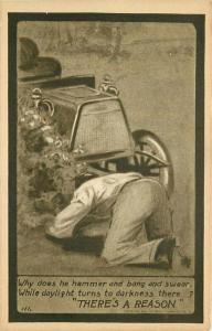 Artist impression Auto Repair Comic Humor C-1910 Postcard 5041