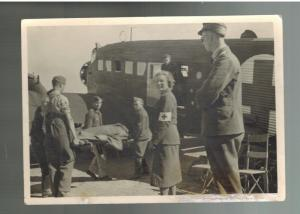 Mint WW 2 Germany Waffen SS Postcard Nord Division Karalia Wounded Soldier Air