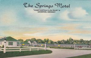 The Springs Motel , LEXINGTON , Kentucky , 30-40s