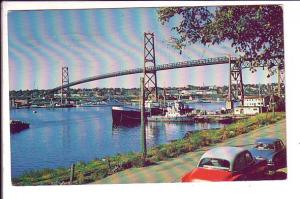 Angus L MacDonald Bridge. Halifax, Nova Scotia, Canada, 50's Cars, Used 1962