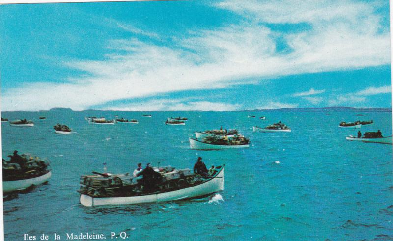 Lobster Fishing Boats, ILES DE LA MADELEINE, Quebec, Canada, 40-60's