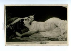 149131 KISS on Nude Women by CORABCEUF vintage SALON 1911 PC