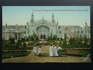 London FRANCO BRITISH EXHIBITION Court of Progress c1908 Postcard by Valentine