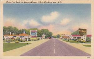 Entering Rockingham on Route U.S.1, Rockingham, North Carolina, 30-40s