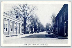 Westfield PA~Church Street~Homes Both Sides~Ladies~CL Franke Store Pub~1940 B&W