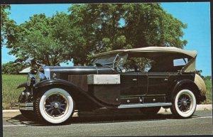 Classic Car Postcard 1929 CADILLAC V-8 Seven Passenger Sport Phaeton