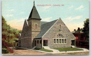 Columbia Missouri~Methodist Church~Dirt Drive & Hitching Rails~Big House~1910