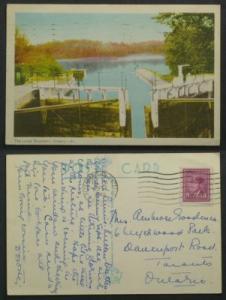 The Locks Buckhorn Ontario postmarked Peterborough 1948