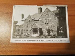 Antique Postcard, House of the Seven Gables and the Hathaway House Photo Print