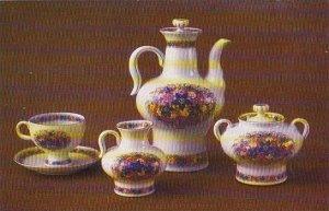 Russia Leningrad Coffee Set Russian Field 1973 Museum Of The Lomonosov Porcel...